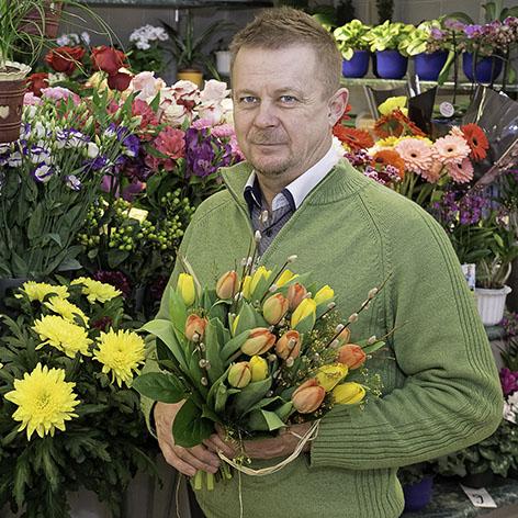 Kuopion kauppahalli kukkakauppa