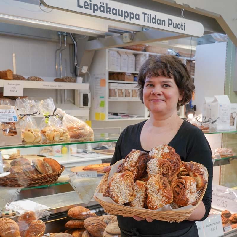 Tildan puoti leipäkauppa Kauppahalli
