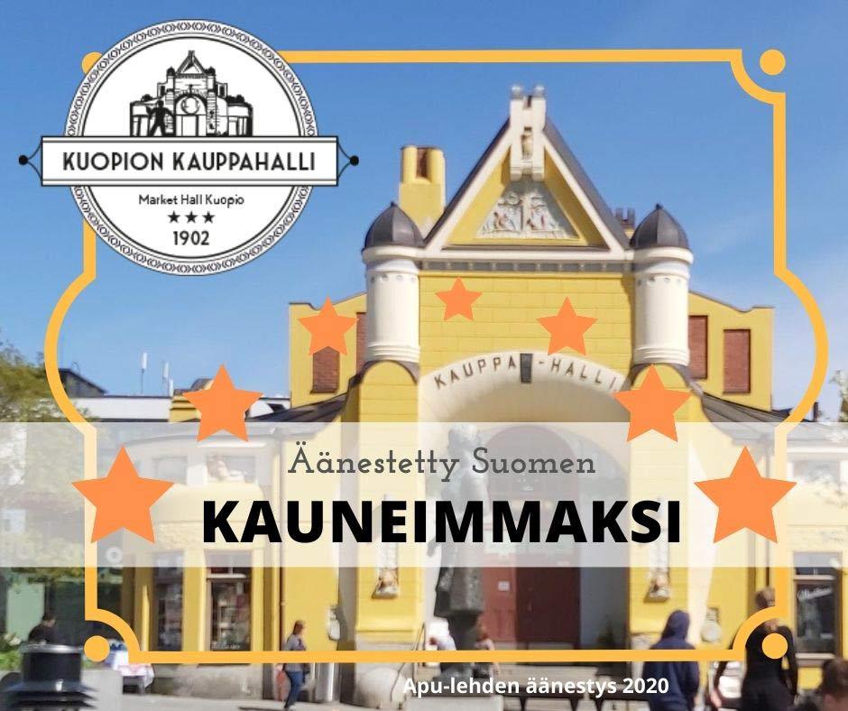 Suomen kaunein kauppahalli Kuopion kauppahalli