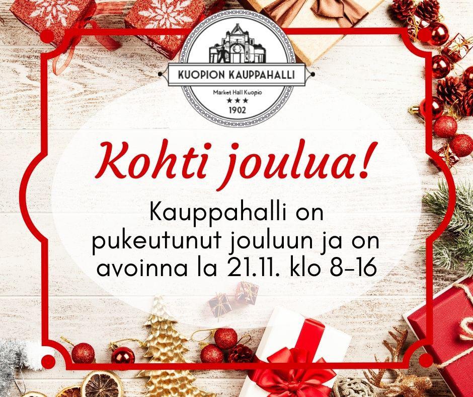Kuopion kauppahalli joulu pidennetty aukiolo
